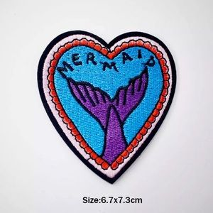 Accessories - Adorable Mermaid Tail Iron On Embroidered Patch